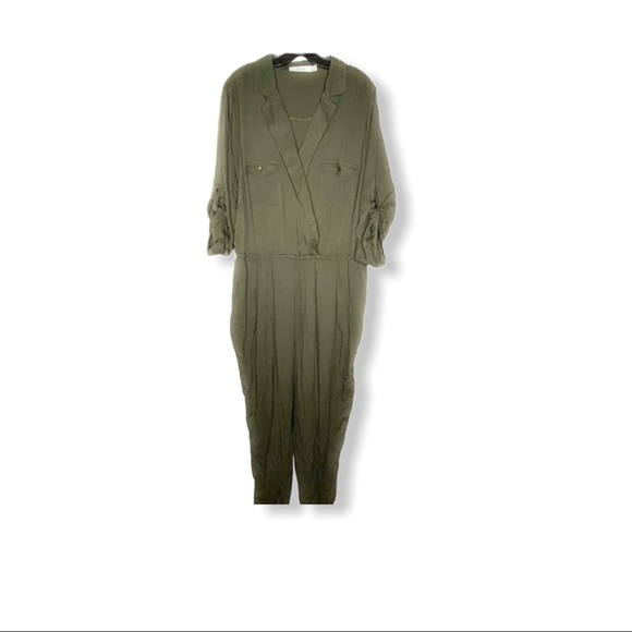 JustFab Jumpsuit Army Green